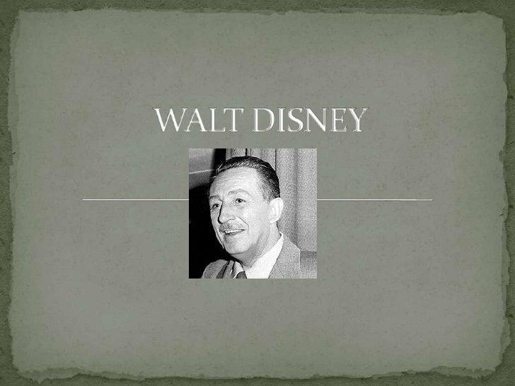 WALT DISNEY<br />
