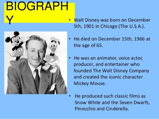 Walt Disney Biography