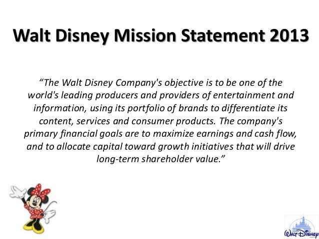 walt disney thesis statement I'm writing a research paper on the history of the walt disney company and including how the parks accommodate the guests with special needs i'm.
