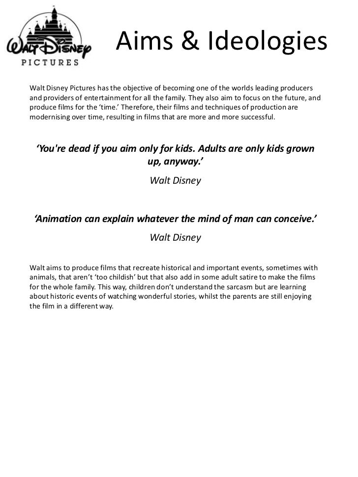 Walt disney annual objectives