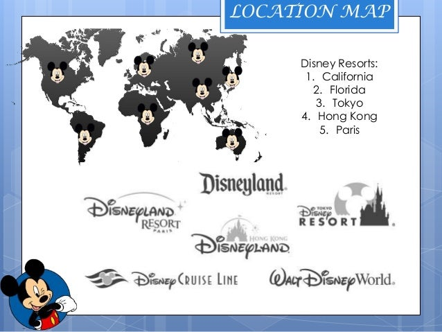 Disneyland Locations World Map.Walt Disney Ppt