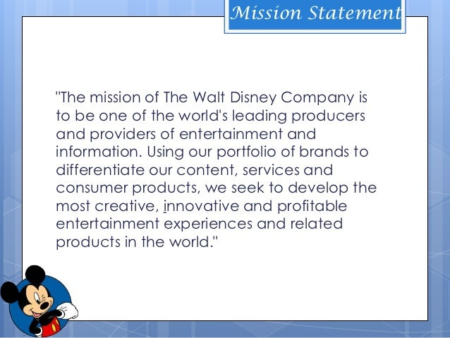Marvel entertainment mission statement
