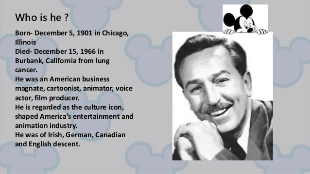 a pioneer in the entertainment film biography of walt disney Walt disney the pioneer in entertainment film during a 43-year hollywood career, which spanned the development of the motion picture medium as a modern american art, walter elias disney was a pioneer and innovator, and the possessor of one of the most fertile imaginations the world has ever known.