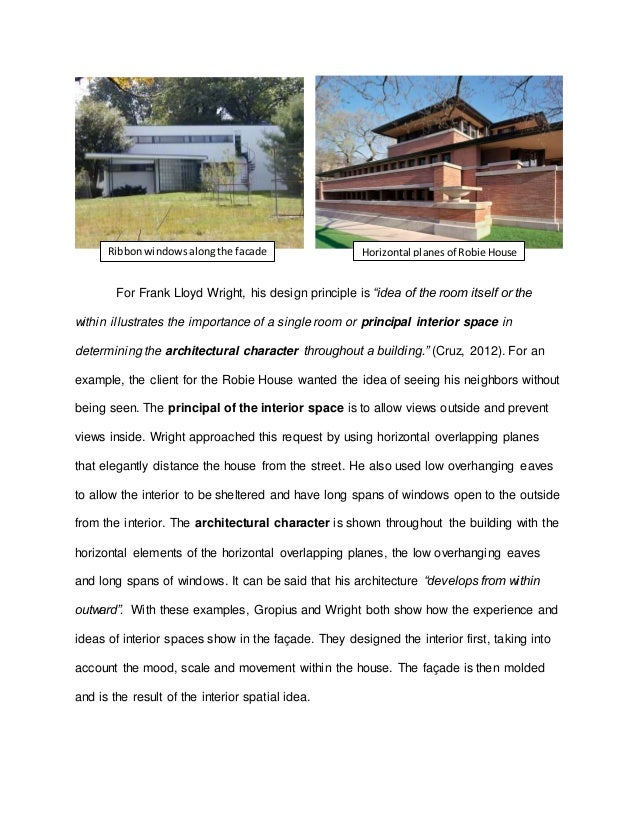 The new architecture principles essay by frank lloyd wright
