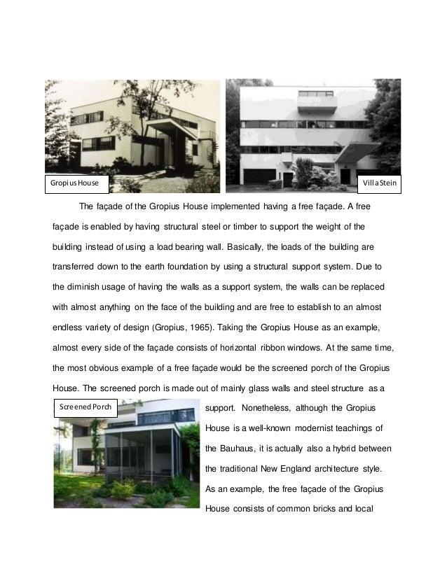 3. The Façade Of The Gropius House ...