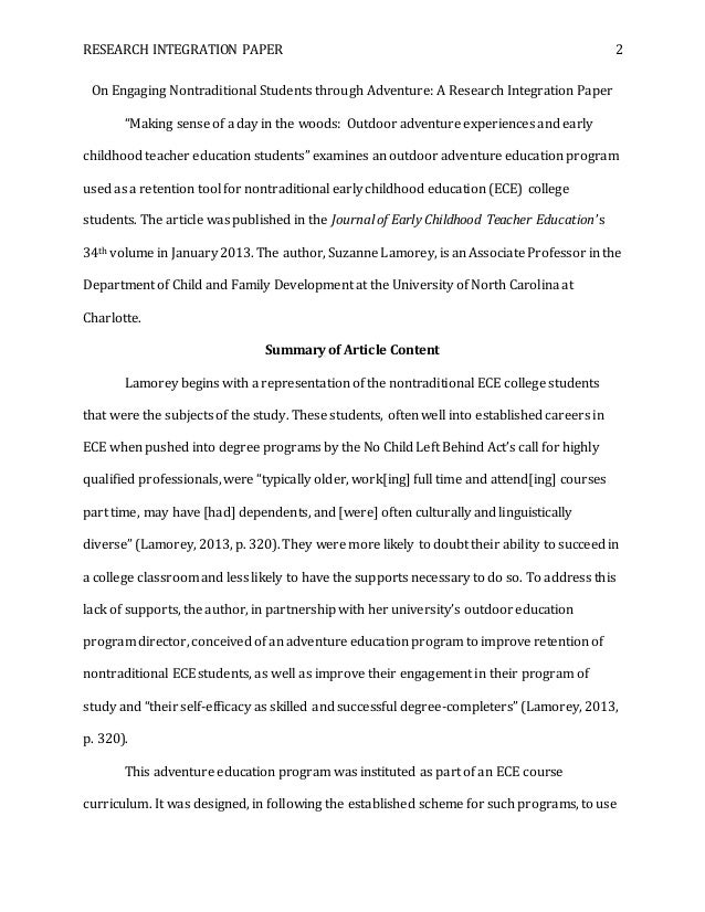 early childhood education a s degree research paper essay
