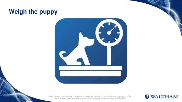 Waltham Puppy Growth Charts