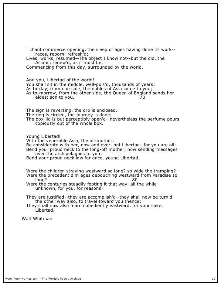 Walt Whitman Poems About Life 6
