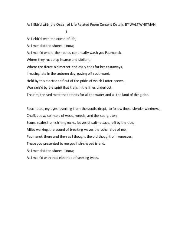 Walt Whitman Poetry