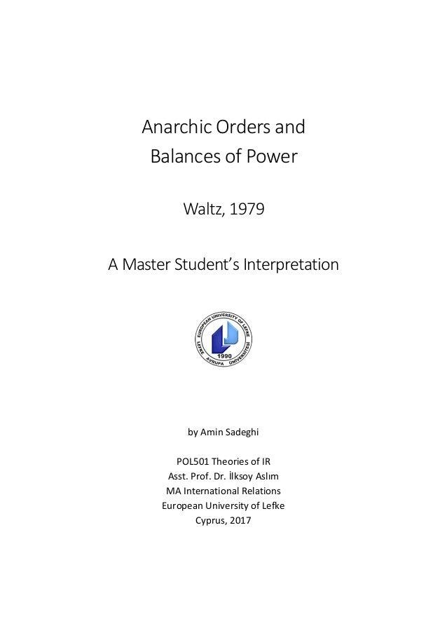 types of balance of power
