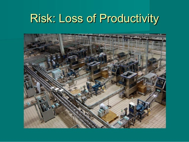 Risk: Loss of ProductivityRisk: Loss of Productivity