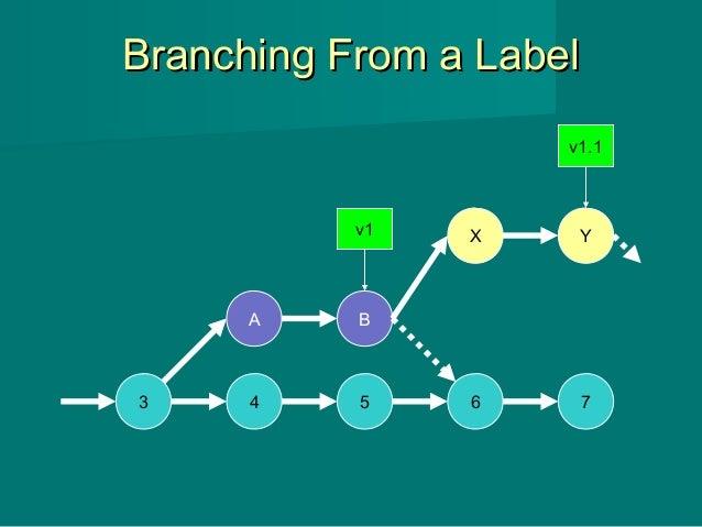 Branching From a LabelBranching From a Label 3 4 5 6 7 A B v1 X Y v1.1