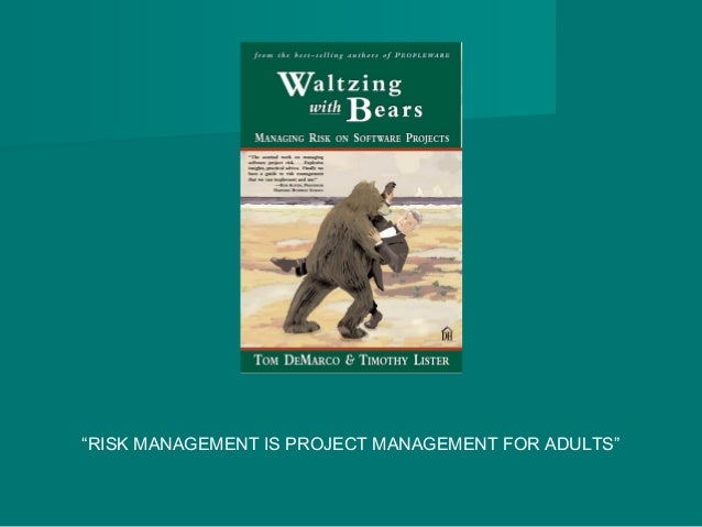 """""""RISK MANAGEMENT IS PROJECT MANAGEMENT FOR ADULTS"""""""