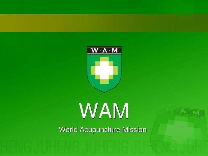 WAM <br />World Acupuncture Mission<br />
