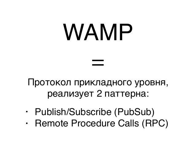 Пара слов про WAMP — Константин Буркалев — MoscowJS 13 Slide 3