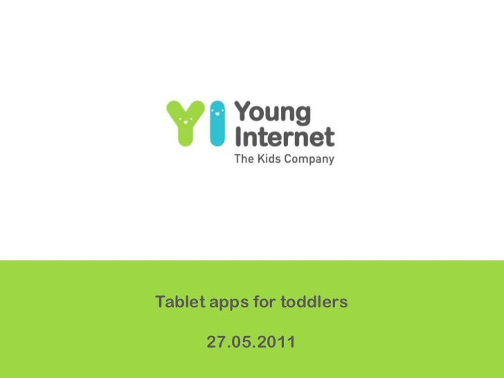 Tablet apps for toddlers<br />27.05.2011<br />
