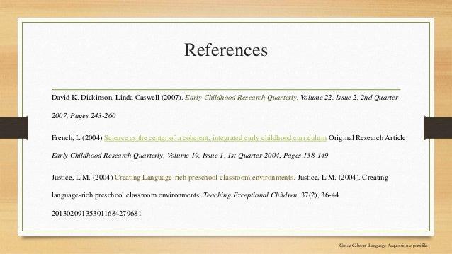 Wanda Gibson Language Acquisition E Portfolio 315
