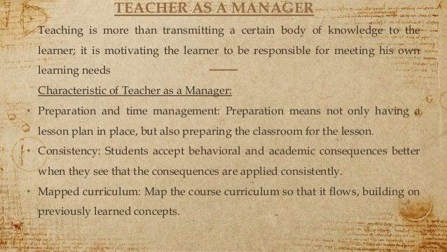 Evolving role of teacher
