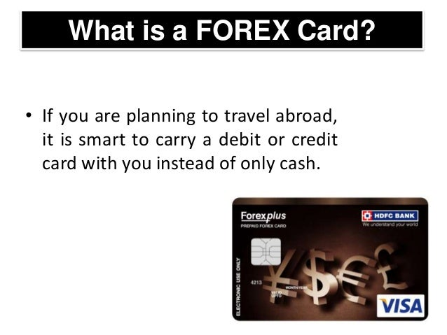 What is forex card number