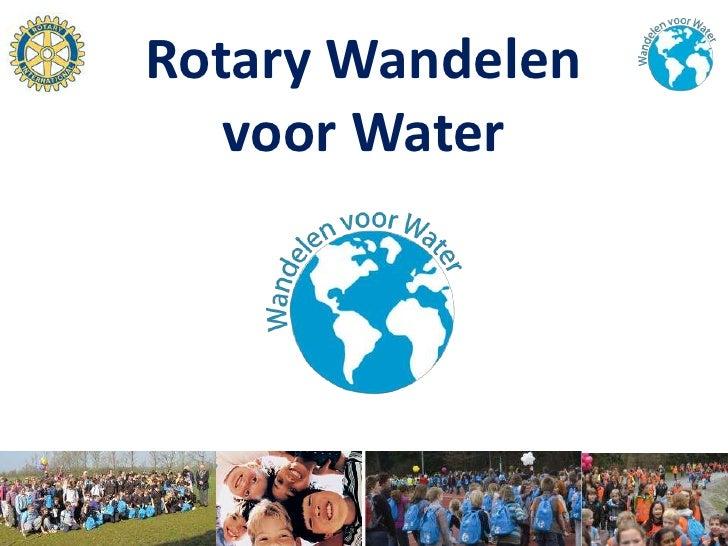 Rotary Wandelen   voor Water
