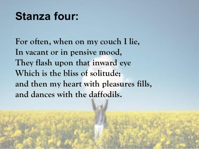 Paraphrasing of daffodils stanza 4