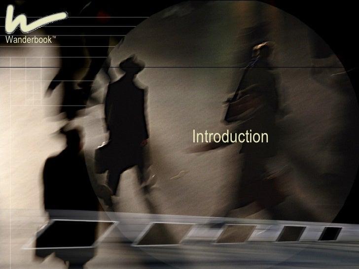 Introduction Wanderbook ™