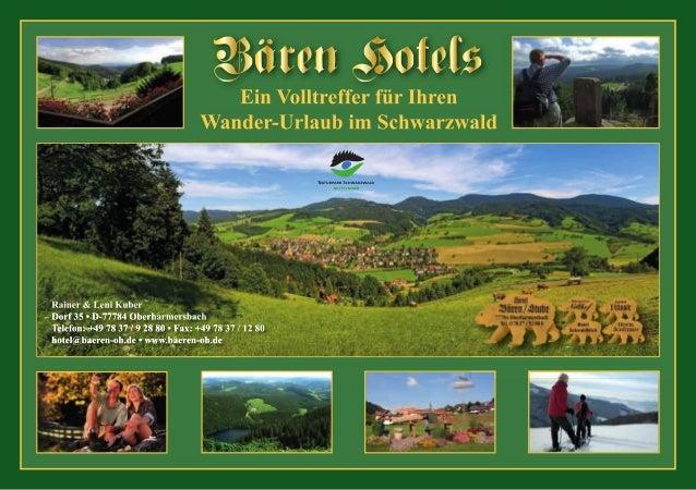 Wandern und Freizeit im Schwarzwald, um und ab Oberharmersbach