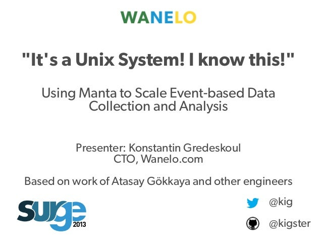 "Proprietary and Presenter: Konstantin Gredeskoul CTO, Wanelo.com Based on work of Atasay Gökkaya and other engineers ""It's..."
