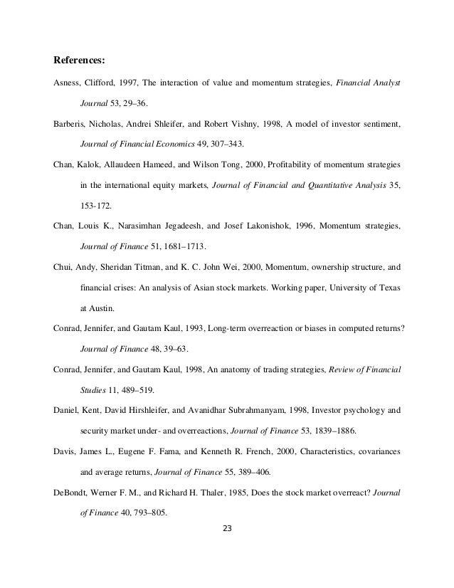 jegadeesh narasimhan and sheridan titman Explaining stock returns: a literature survey james davis saturday, december 1, 2001 6,333 views sort by jegadeesh, narasimhan, and sheridan titman.