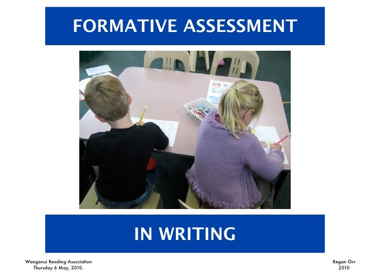 FORMATIVE ASSESSMENT                                    IN WRITING Wanganui Reading Association                Regan Orr  ...