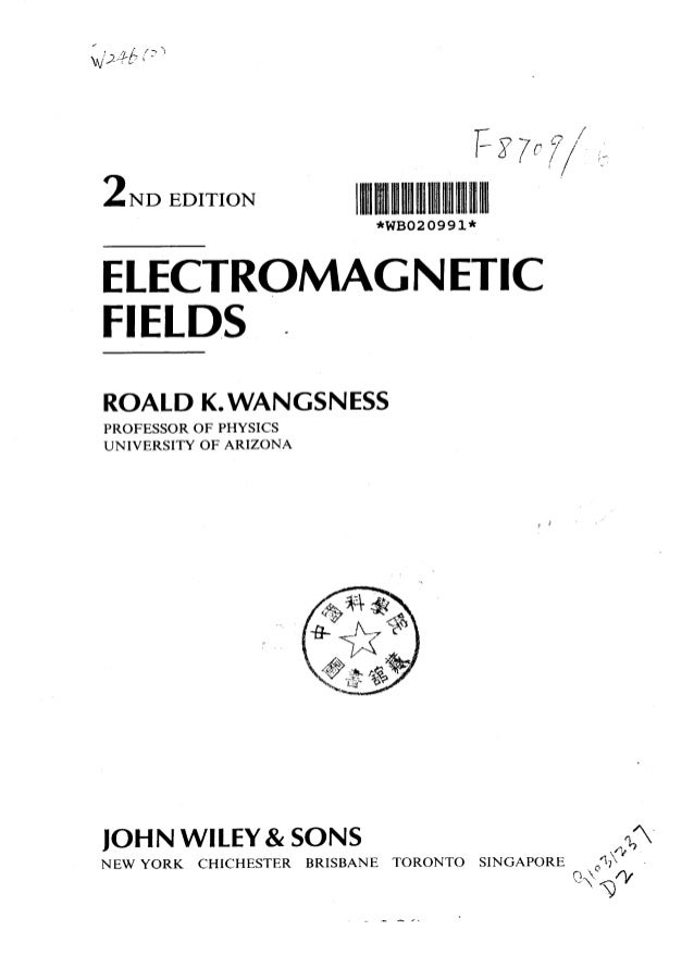 Fields introduction pdf electromagnetic to