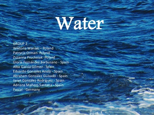 water an important source of life Water facts of life ride the water cycle with these fun facts there is the  same amount of water on earth as there was when the earth was.