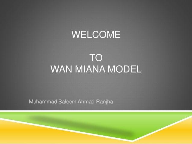 WELCOME  TO  WAN MIANA MODEL  Muhammad Saleem Ahmad Ranjha