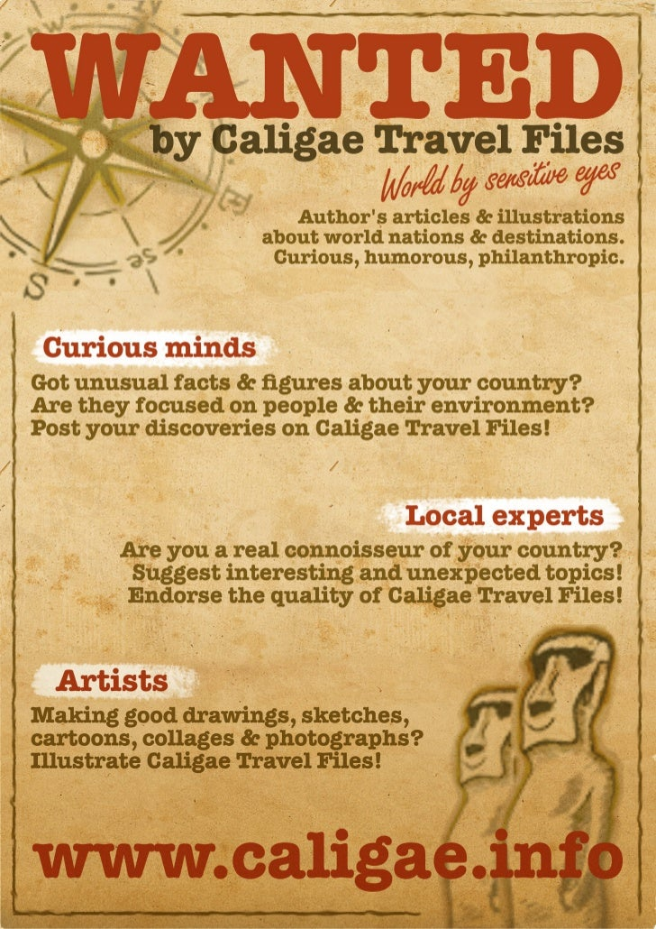 For curious & aesthetic minds only! You are wanted by Caligae Travel Files!