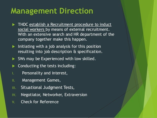 Management Direction ...