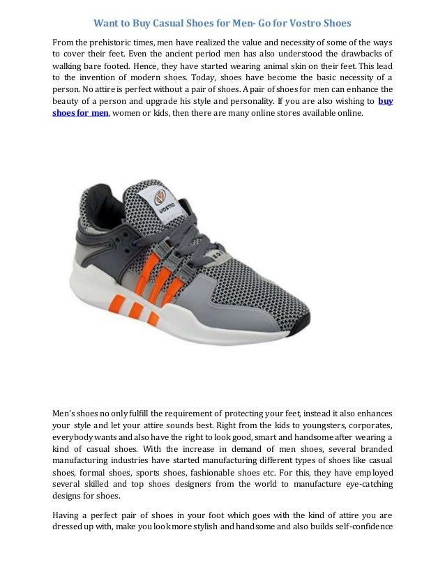 Want to buy casual shoes for men go for
