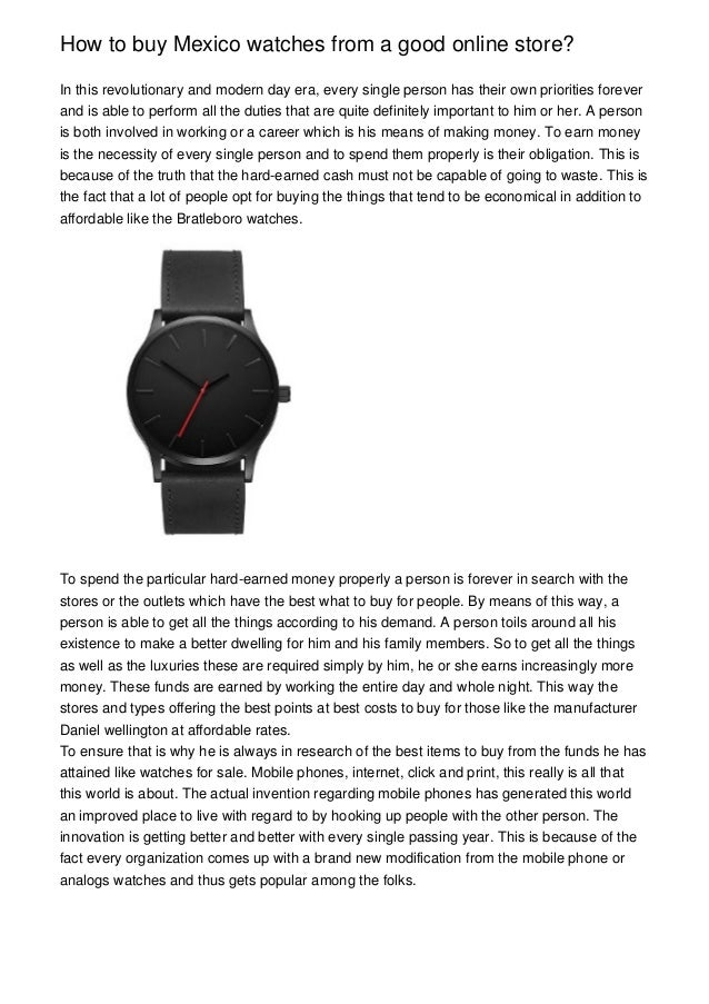 How To Buy Mexico Watches From A Good Online Store