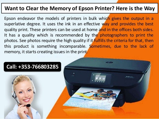Want to Clear the Memory of Epson Printer? Here is the Way