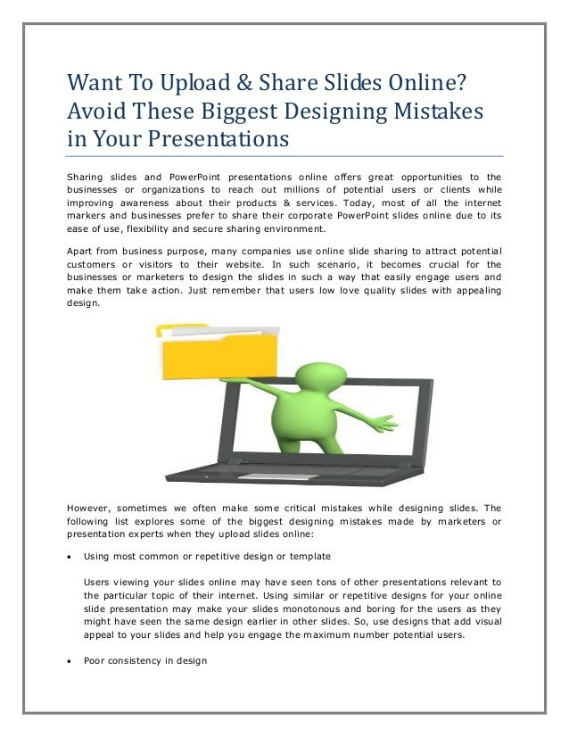 want to upload share slides online avoid these biggest designing mi