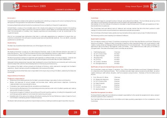 Zenith bank annual report 2009