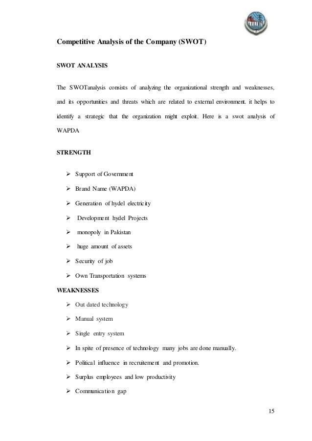 wapda internship report rh slideshare net