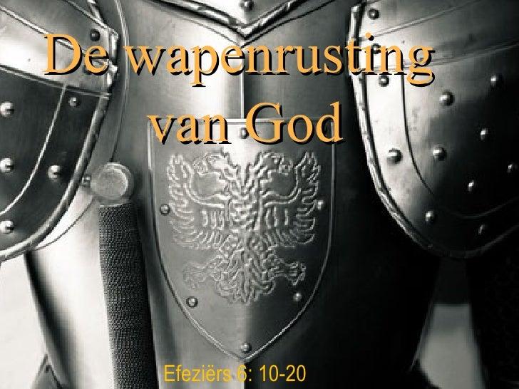 De wapenrusting  van God Efezi ërs 6: 10-20