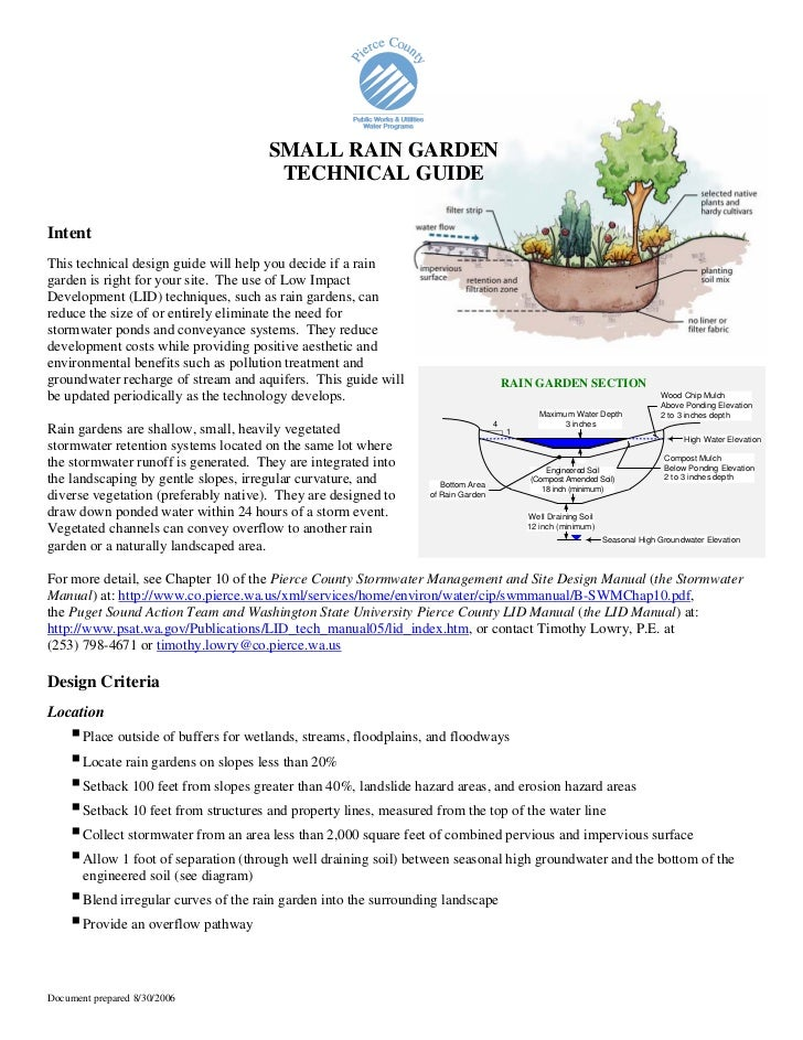 WA: Pierce County: Small Rain Garden Technical Guide on rain art drawings, rain gutter downspout design, dry well design, rain roses, rain water design, french drain design, rain construction, rain illustration, rain barrels, gasification design, bioswale design, rain gardens 101, rain harvesting system design,