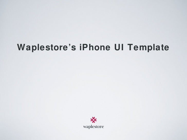 Waplestore's iPhone UI Template
