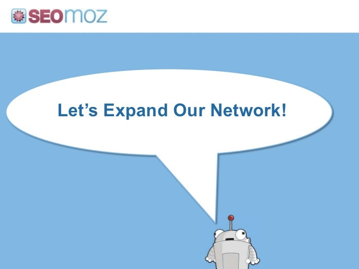 Let's Expand Our Network!<br />