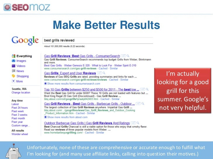 Make Better Results<br />I'm actually looking for a good grill for this summer. Google's not very helpful.<br />Unfortunat...