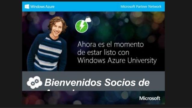 HORARIO                        CHARLA                  PRESENTADOR 8:30am – 10:00am   Generalidades de Windows Azure    Ri...