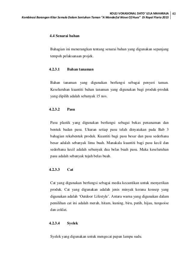 Tesis Diploma Vokasional Malaysia Landskap