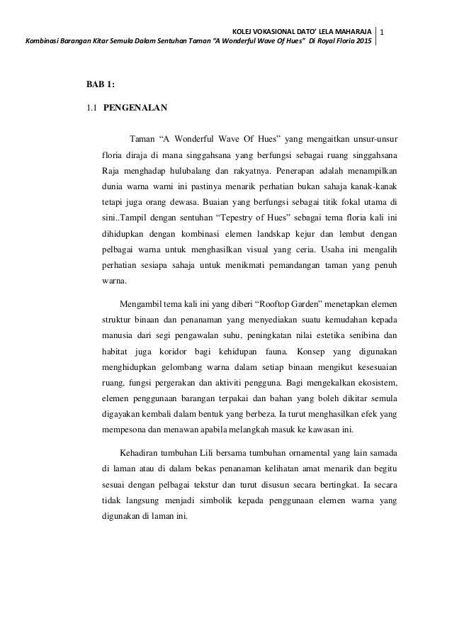 thesis kolej vokasional