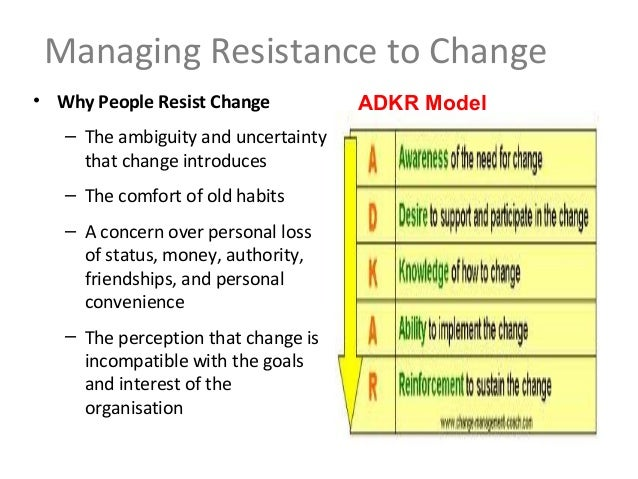 minimize resistance to change How to reduce resistance to change  enjoy his post on reducing resistance when leading change people drive change change does not drive people.